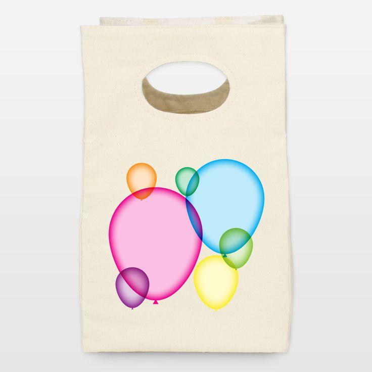 Balloons Lunch Bag http://www.boomboomprints.com/shop/artist/steelgraphics
