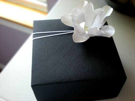 Black and White Elegance Gift Box  Bridal Party  by thepaperbox