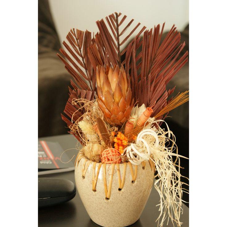 Aranjament plante uscate in vas ceramic