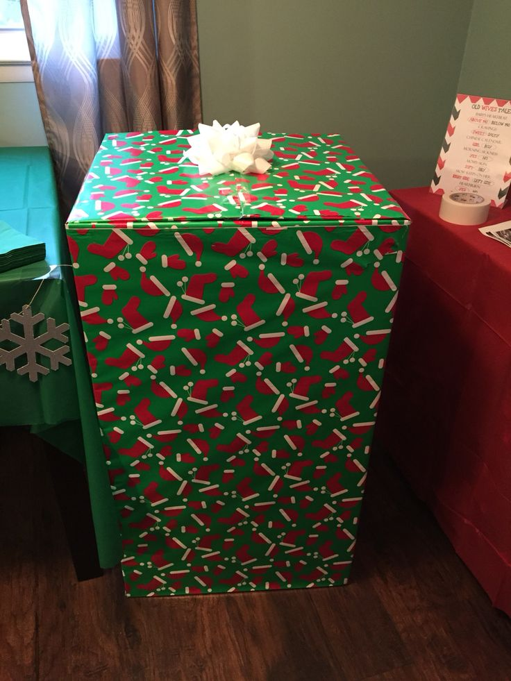 Christmas gender reveal party