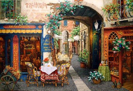 Educa Puzzle Trattoria Tre Marchetti.. took its place in my dining room.. #educa #puzzle #diningroom #decoration