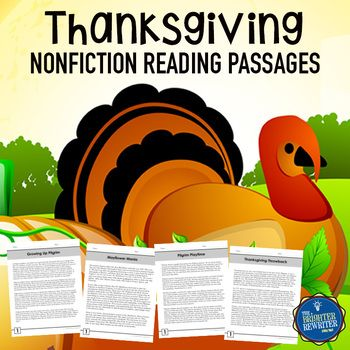 Build comprehension using these 4 Thanksgiving-themed nonfiction reading passages that feature one page of informational text and one page of multiple-choice questions with 3 answer choices. Topics include Pilgrim children, Pilgrim games, the story of the Mayflower, and the evolution of the holiday of Thanksgiving.