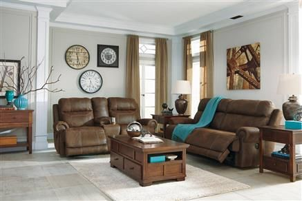 Austere Contemporary Brown Gray Living Room Set