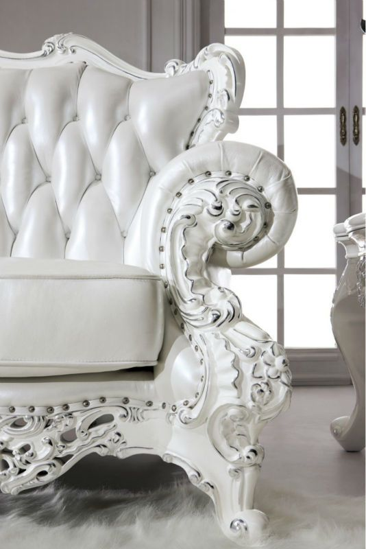Antique Luxury Royal Furniture French Rococo Style White