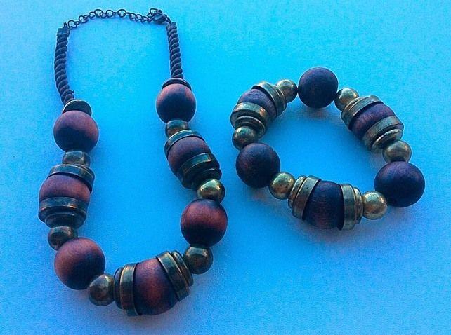 Mens large wooden bead bracelet, mens large wooden bead bracelet, gifts for him £15.00