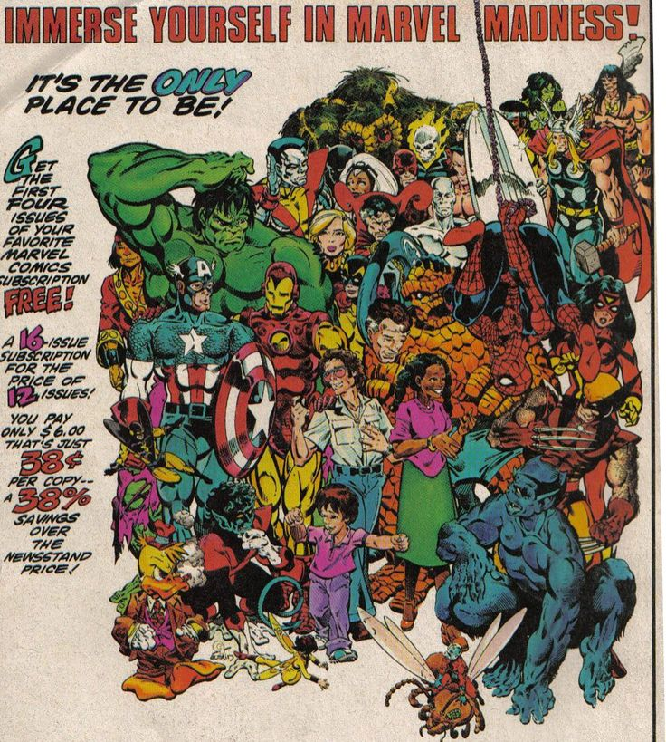 Vintage Ad - Marvel Comics Subscription Ad by the great Michael Golden.