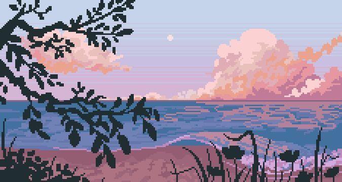 Pin By Carol Kowalka On Headers In 2020 Desktop Wallpaper Art Cute Desktop Wallpaper Pixel Art Landscape