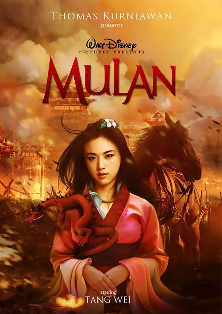 Poster de la película live action de Disney Mulan Disney