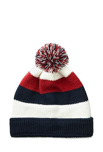 Striped Pom Beanie | #ForeverHoliday