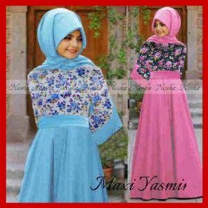 Busana muslim syari cantik maxi yasmin Bandung