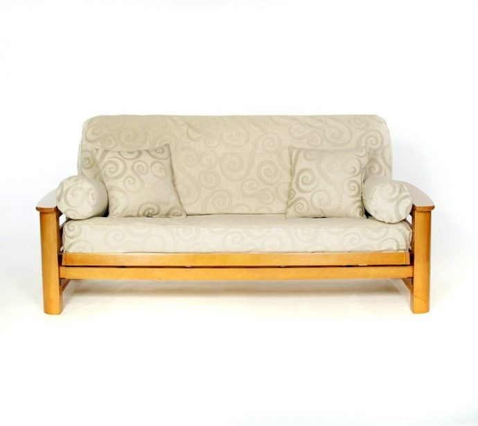 Abby Futon Cover With White Patterned