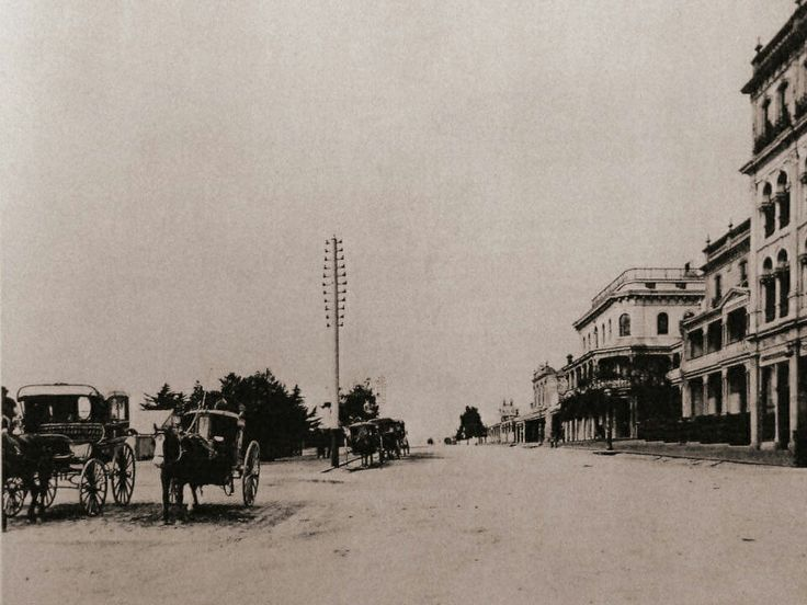 Fitzroy St,St Kilda in Victoria in the 1880s.