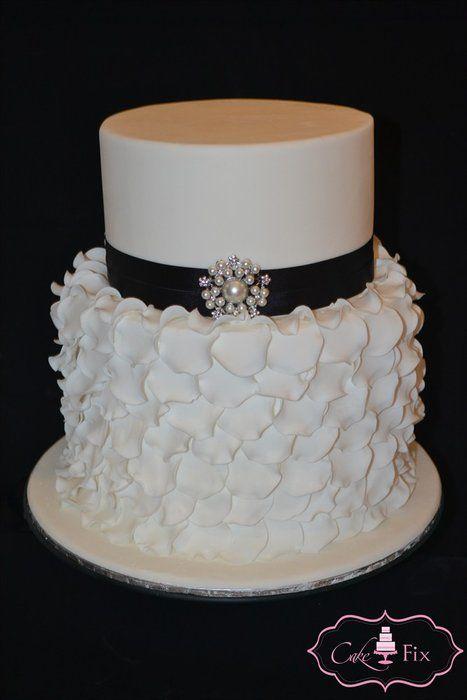 Rose Petal Wedding Cake - by cakefix @ CakesDecor.com - cake decorating website