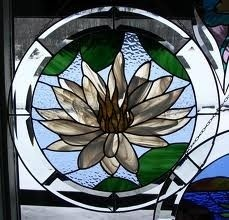 glass stained-glass: Glasses Flower, Glasses Stained Glasses, Glasses Stains, Floral Stains, Glasses Art, Glasses Stainedglass, Water Lilies, Lotus Flower, Stains Glasses