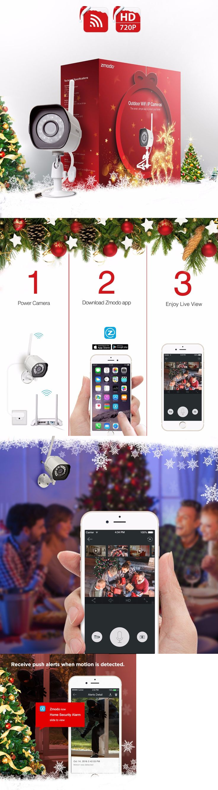 Security Cameras: Zmodo 720P Hd Wireless Network Outdoor Home Security Camera W/ Ir Night Vision BUY IT NOW ONLY: $35.0