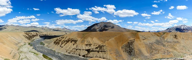 DavidGabis posted a photo:  Panorama near a village called Pang, Keylong Leh road, India