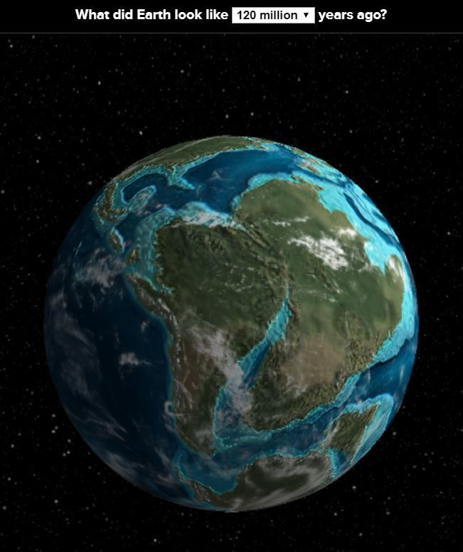 This interactive globe shows the ancient earth throughout #history. Great way to better understand plate tectonics.  --  http://dinosaurpictures.org/ancient-earth/
