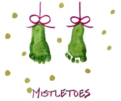 Footprint Mistletoe Preschool Art Project