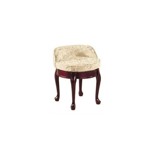 Delmar Ivory Damask Low Back Swivel Vanity Stool-5544400420 at The... ($103) ❤ liked on Polyvore