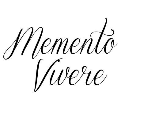 memento vivere tattoo - Google Search