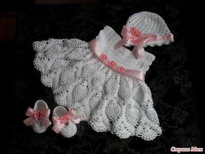 FREE CROCHET BABY DRESS PATTERNS   Lena Patterns