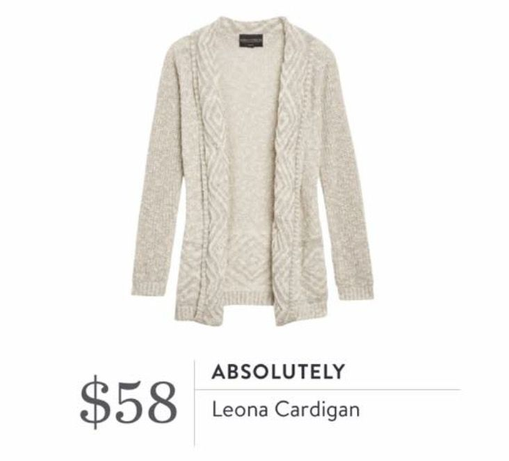 Stitch Fix September 2016 - Absolutely, Leona Cardigan