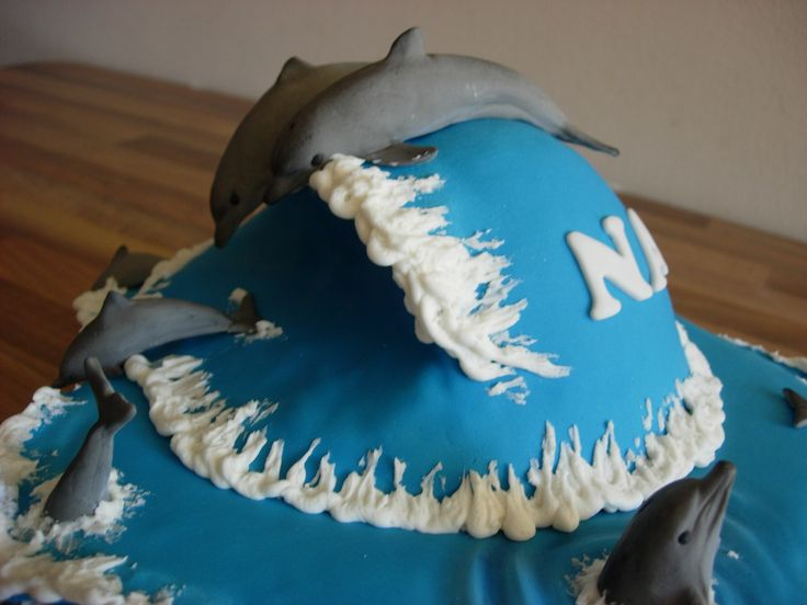 Dolphin Birthday Cake For Our 8 Year Old Daughter Dolphin Birthday cake for our 8 year old daughter.