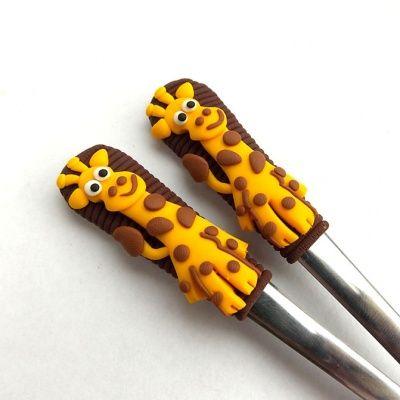 Čajové lžičky - žirafky (hnědé)
