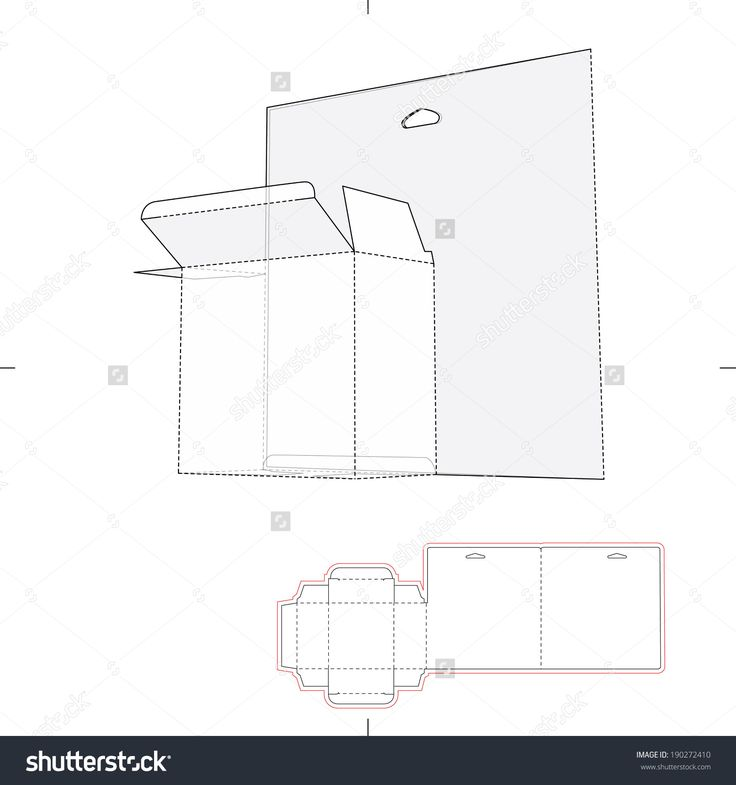 Shelf Box With Die Cut Layout Stock Vector Illustration 190272410 : Shutterstock