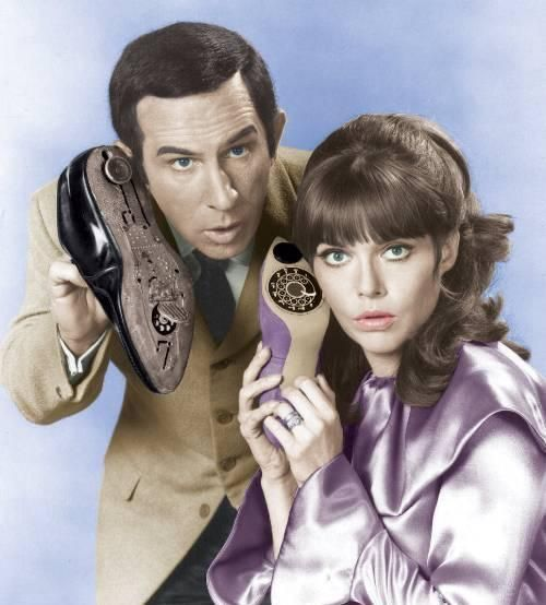 """Don Adams and Barbara Feldon in the TV show """"Get Smart"""" one of the greatest shows ever!"""