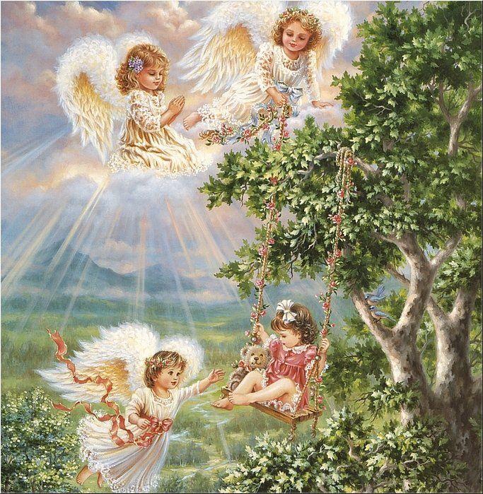 картинки с ангелами красивые с днем рождения таким организмам