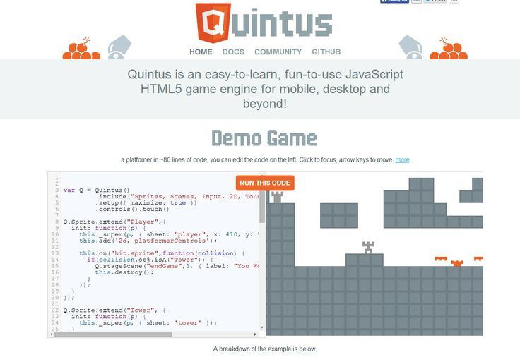 Easy to learn HTML5 and JS game engin