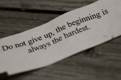Even if you stumble....do not give up!