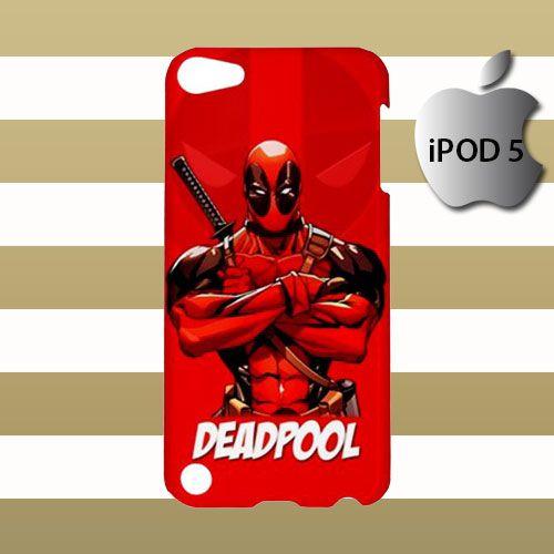 Deadpool Logo Custom iPod 5 5g 5th Touch Case Cover Hardshell