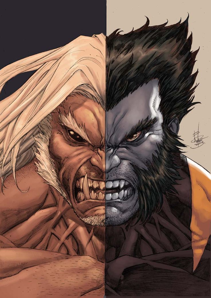 Wolverine/Sabretooth by godmercys.deviantart.com on @deviantART