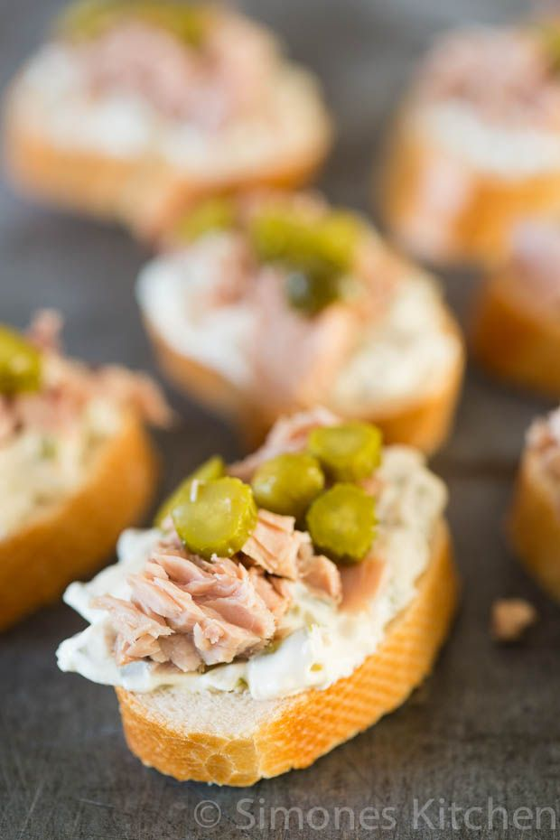 Romige tonijn hapjes | simoneskitchen.nl