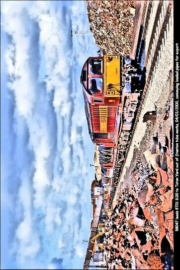 Last freight-train out of Stanton works,Ilkeston