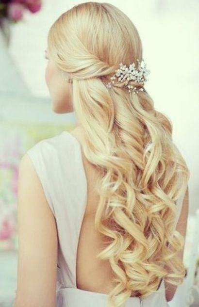 Inspiration uppsättning för långt hår