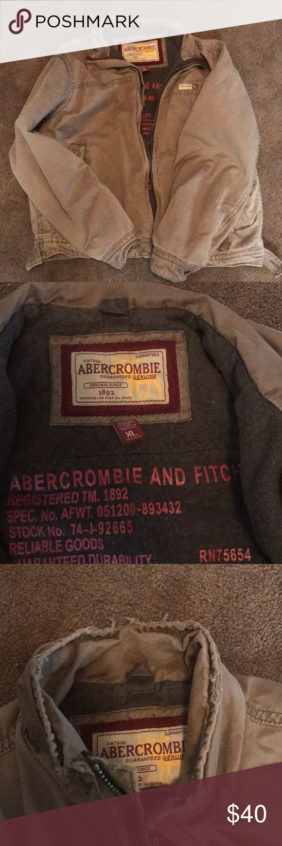 Abercrombie and Fitch jacket Abercrombie and Fitch jacket size xl Vintage style  jacket. Jackets & Coats Bomber & Varsity
