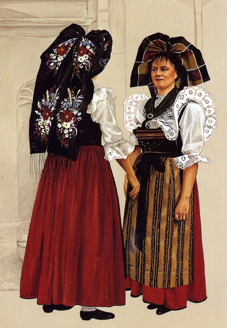 FolkCostume&Embroidery: Overview of the costumes of Alsace or Elsass