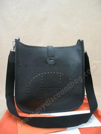 Hermes Evelyne Leather Handbag 62651  $198.00