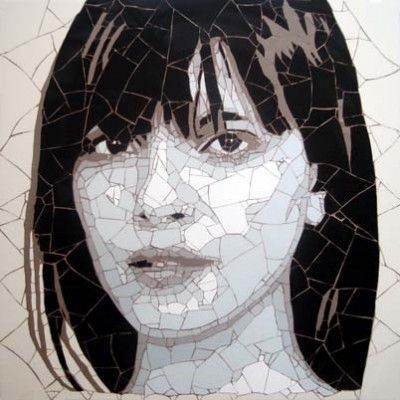 London Girl~ mosaic by Ed Chapman
