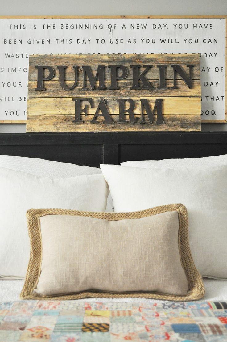 DIY Pumpkin Farm Sign tutorial at httpablissfulnestcom