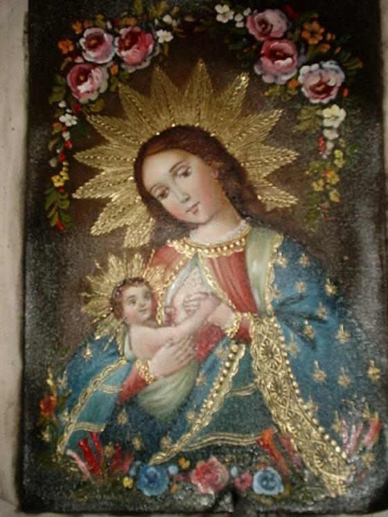 Famoso Tema De La Escuela Cusque 209 A Virgen De La Leche