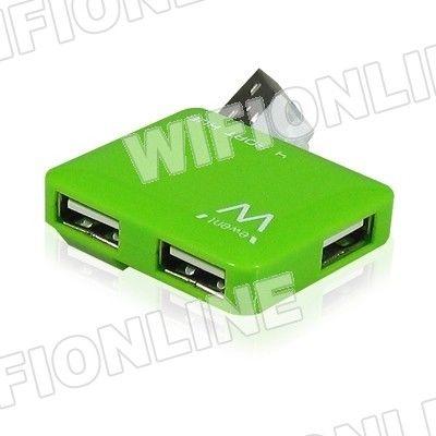 Ewent - EMINENT EW1127 Hub Mini 4 Puertos USB2 Verde :: Wifi-Online Shop Amplía tu portátil con 4 puertos USB Transferencia de datos a alta velocidad gracias al USB2.0 (480 Mbps)