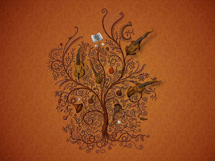Orchester (gold) (Hintergrundbild)