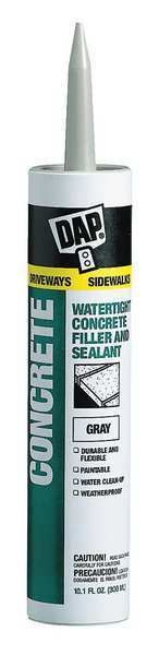 Latex Concrete Sealant, 10.1 oz, Gray - need to use duct tape when applying, very liquid.