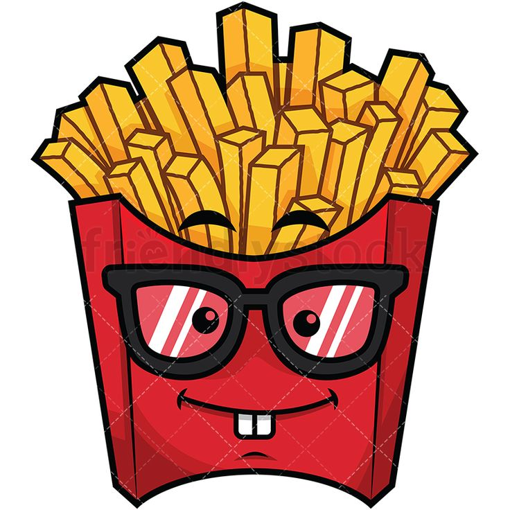 geeky french fries emoji cartoon vector clipart friendlystock in 2020 emoji baby animal drawings emoji clipart geeky french fries emoji cartoon vector