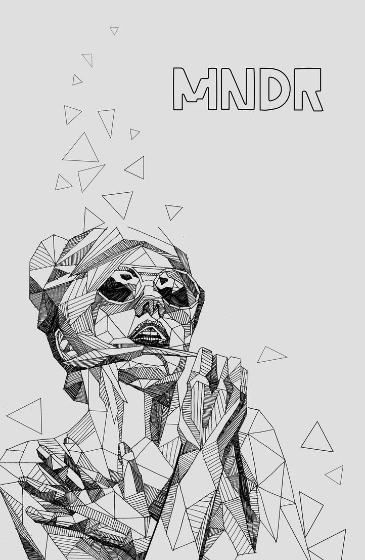 Poster design drawing - Poster Design To Celebrate Mndr An Electronic Music Duo
