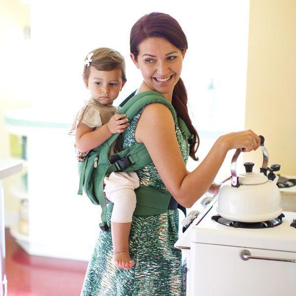Ergobaby Organic Ergo Baby Carrier - Green/River Rock | Baby www.duematernity.com